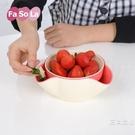 水果盤創意時尚現代客廳果盤塑料家用雙層糖...