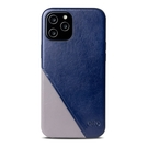 Alto iPhone 12 Pro Max 真皮手機殼背蓋 6.7吋 Metro 360 - 海軍藍/礫石灰【可加購客製雷雕】皮革保護套