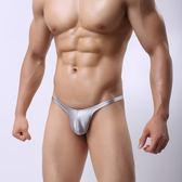 男式性感丁字褲 金銀色激凸男低腰內褲 緊身絲滑男士T褲 表演丁褲