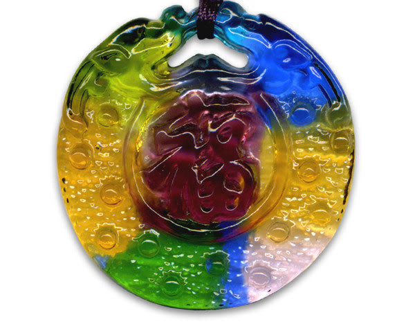鹿港窯~居家開運水晶琉璃項鍊~福滿◆ 附精美包裝◆免運費送到家