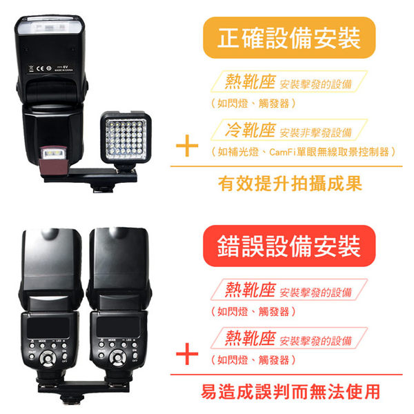 放肆購 Kamera 卡菲 CamFi WS-2N 相機熱靴1轉2支架 E-TTL 支援 for Nikon 閃燈 熱靴 雙機 觸發器