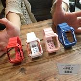 適用apple watch蘋果手表錶帶一體保護殼塑料硅膠全包【小檸檬3C】