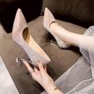 高跟鞋 名媛法式小高跟鞋女婚鞋細跟設計感小眾-Milano米蘭