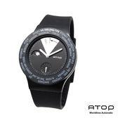 ATOP|世界時區腕錶-24時區經典系列(黑/銀色)