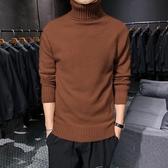 毛衣男 秋冬裝新款高領毛衣男 韓版潮加絨加厚針織衫修身打底毛線衫  寶貝計書