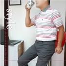 【大盤大】(P25799) 男 條紋口袋POLO衫 短袖棉T 台灣製 快乾 運動 有領休閒上衣【2XL號斷貨】