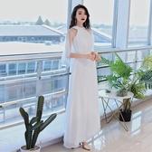 禮服洋裝 白色女新款高貴晚宴名媛端莊大氣宴會時尚長款仙 - 紓困振興~~全館免運
