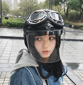 哈雷頭盔女夏季電瓶車安全頭帽男電動摩托車可愛機車四季頭奎女士 創時代 YJT