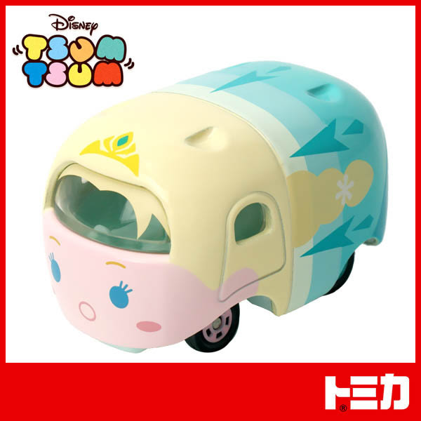 TOMICA 多美小汽車 Line迪士尼消消樂 TSUM TSUM 冰雪奇緣 艾莎小車(堆疊款)