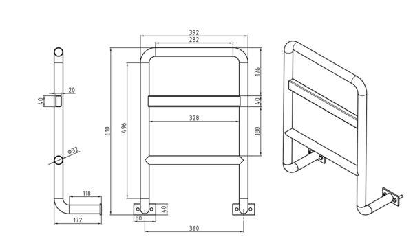 古洛奇專用扶手式護欄---固定式