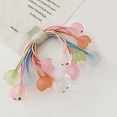 櫻桃花朵透明珠子髮圈 兒童髮飾 可愛髮圈