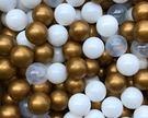 *粉粉寶貝玩具*台灣製~加厚~金色華麗世界遊戲彩球混色款 (球屋、球池專用海洋球~波波球)~