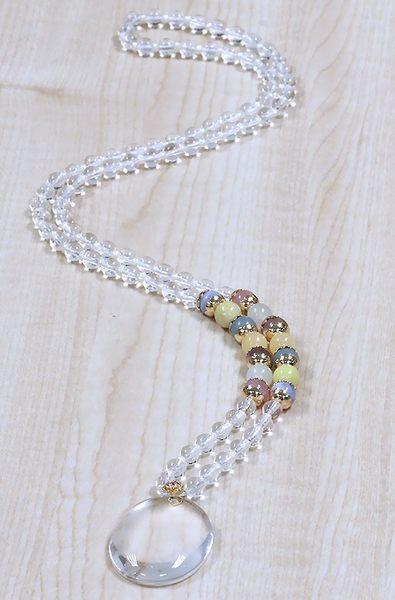 [協貿國際]天然白水晶長項鍊單條價