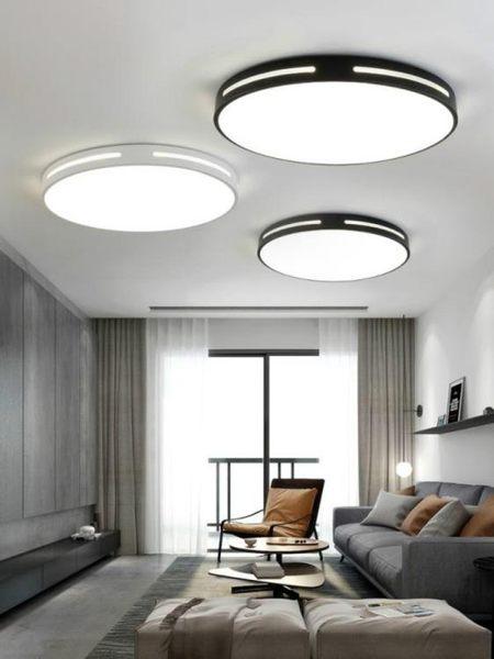 吸頂燈 LED超薄吸頂燈圓形簡約現代臥室大氣客廳燈飾餐廳遙控長方形燈具 mks薇薇