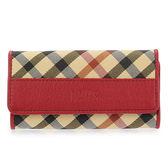 DAKS 經典斜格紋帆布扣式鑰匙鎖包(紅色)230129-11