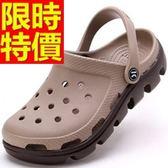 情侶款洞洞鞋(單雙)-設計好穿好搭透明休閒鞋6色55w19【巴黎精品】