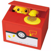 【日本正版】皮卡丘 偷錢箱 存錢筒 儲金箱 小費箱 神奇寶貝 PIKACHU 寶可夢 - 376503