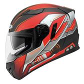 [東門城] ZEUS ZS813-AN19 消光黑紅 輕量雙鏡 全罩式安全帽 內襯可拆洗