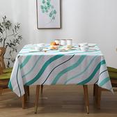 餐布 防水 桌巾 長桌巾 PEVA 野餐墊 防燙 桌墊 防塵 免洗 防油 北歐條紋桌布(小)【Z118】慢思行