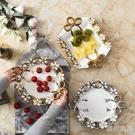 果盤 北歐水果盤輕奢客廳茶幾家用現代歐式簡約零食干果盆陶瓷果盤糖果 新年禮物