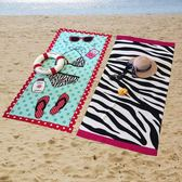 速干浴巾旅行沙灘巾成人女沙灘墊游泳運動擦汗巾吸水巾便攜大毛巾