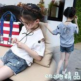 夏季女童裝短袖t恤中大童純棉上衣小衫新款韓版夏裝百搭兒童半袖  enjoy精品