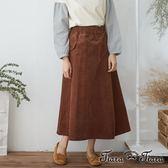 【Tiara Tiara】激安 鬆緊腰素面長半身裙(咖啡/紅)