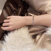 手鏈 高級感鋯石手鏈女ins潮小眾設計閨蜜姐妹情侶手飾網紅氣質手環【快速出貨八折搶購】