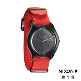 NIXON QUAD 帆布錶帶 螢光橘 潮人裝備 潮人態度 禮物首選