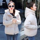 梨卡-秋冬保暖外套短款加厚連帽鋪棉仿羽絨外套大衣風衣AR079