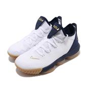 Nike 籃球鞋 LeBron XVI Low EP 白 金 男鞋 詹姆斯 16代 【PUMP306】 CI2669-101