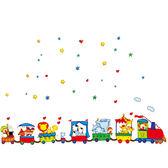 快樂火車馬戲團 AY9065 新款壁貼 兒童房 辦公室 幼兒園 室內佈置 居家裝飾 壁貼【YV4239-1】BO雜貨