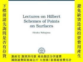 二手書博民逛書店Lectures罕見On Hilbert Schemes Of Points On Surfaces-曲面上點的H