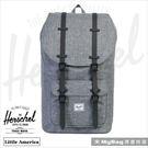 Herschel 後背包 Little America 大型 灰色/黑橡膠 小美國筆電後背包 LIL-AMER-1132    MyBag得意時袋