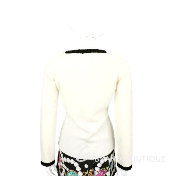 BOUTIQUE MOSCHINO 米白色皺褶蕾絲滾邊羊毛外套 1540321-40