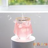 水杯玻璃杯女家用創意簡約透明金邊茶杯子酒杯【倪醬小舖】