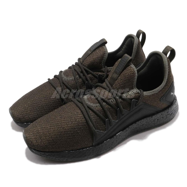 Puma 慢跑鞋 NRGY Neko Knit 綠 黑 編織鞋面 輕量避震 男鞋 運動鞋【PUMP306】 19109302