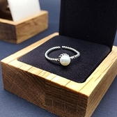 戒指 925純銀珍珠-優雅流行情人節生日禮物女開口戒73ic80[時尚巴黎]