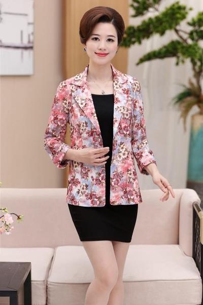 西裝裝西裝外套女40-50歲中年媽媽裝氣質小西服時尚春上衣 薄【新年盛惠】