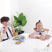 兒童餐具環保兒童餐具套裝分隔餐盤家用早餐盤子寶寶勺筷叉分格盤飯團模具  【全館免運】