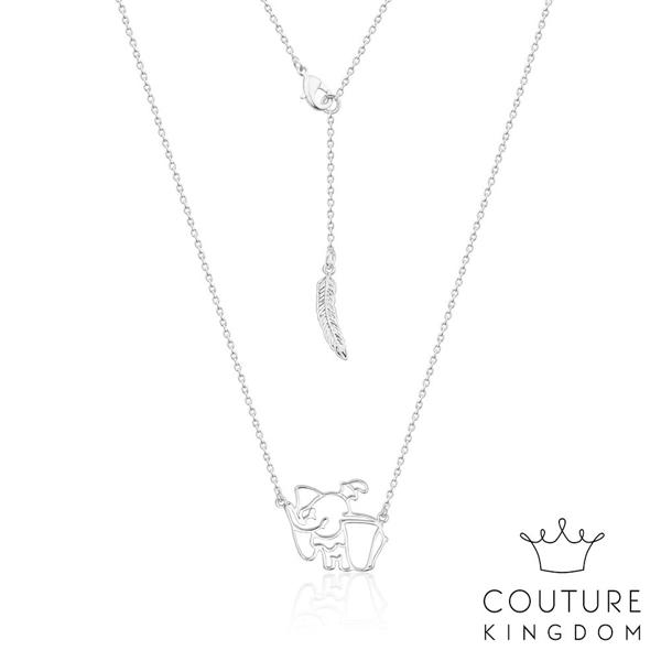 Couture Kingdom 迪士尼小飛象鏤空鍍14K白金項鍊 Dumbo Necklace