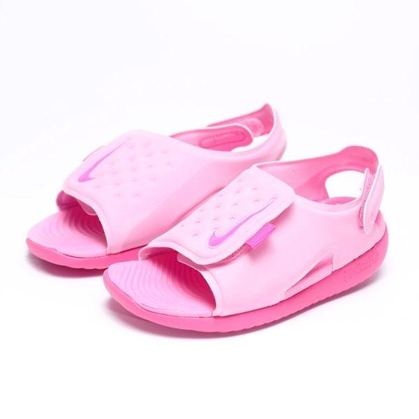 NIKE SUNRAY ADJUST TD 粉紅 魔鬼氈 涼鞋 小童 (布魯克林) AJ9077-601