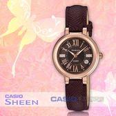 CASIO 卡西歐 手錶專賣店 SHEEN SHE-4029PGL-5A 主題色系列 優雅指針女錶 皮革錶帶 SHE-4029PGL