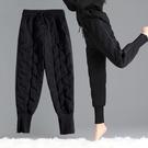 2020秋冬羽絨褲女外穿新款時尚高腰大碼加絨加厚寬鬆休閒保暖棉褲 童趣潮品