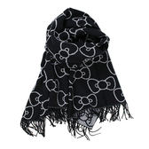 《Sanrio》HELLO KITTY滿版圖案大尺寸保暖披巾(蝴蝶結躲貓貓)_778907