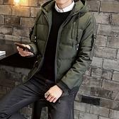 夾克外套-連帽韓版時尚加厚保暖夾棉男外套3色73qa16【時尚巴黎】
