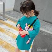 女童長袖-女童打底衫秋季新款兒童衛衣秋裝長袖秋款上衣 夏沫之戀