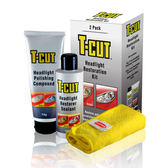 T-CUT大燈拋光修復鍍膜組,大燈霧化、發黃、朦朧,恢復如新透明光澤