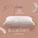 (二入)五星級飯店指定御用 水鳥羽絨枕 100%純棉表布 防絨加工《英柏絲Embrace》