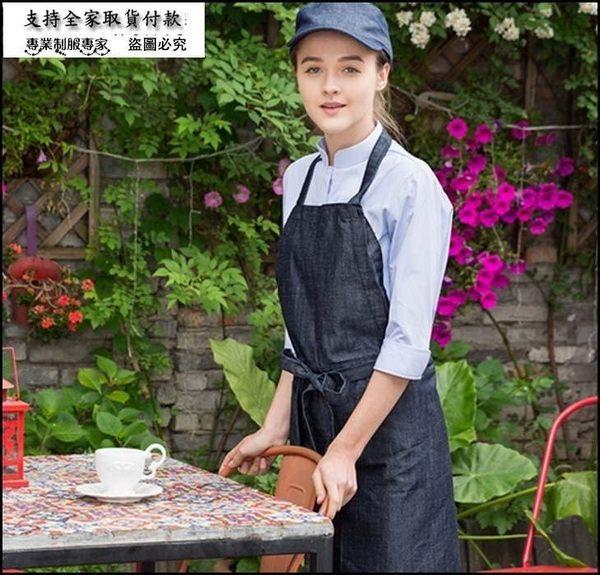 七分袖襯衫 女裝日韓清新可愛純色西餐廳咖啡廳烘培店果汁店工作服